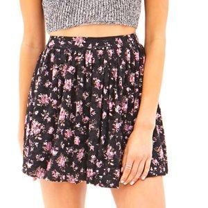 Forever 21 Mini Floral Skirt